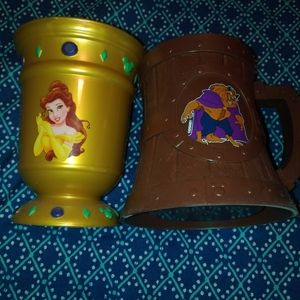 Disney World Gaston Beauty and The Beast cup set